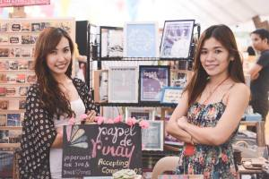 With my cousin, Kendee, who helped me set up and man the booth. ;)